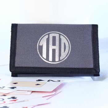Personalised card & coin wallet - monogram