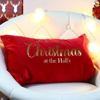 Velvet cushion - Christmas (g)