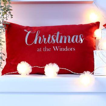Velvet cushion - Christmas