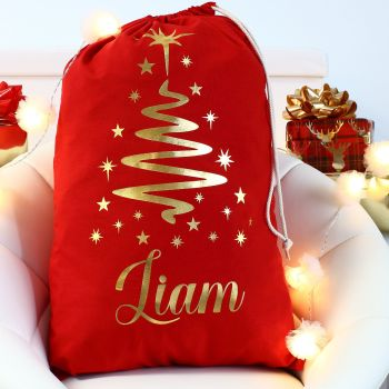 Personalised Christmas Sack - Red