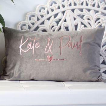Velvet cushion - Couples