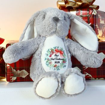 Personalised first Christmas bunny