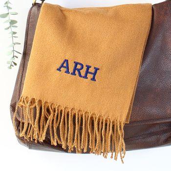 Personalised unisex scarf - Bold initials
