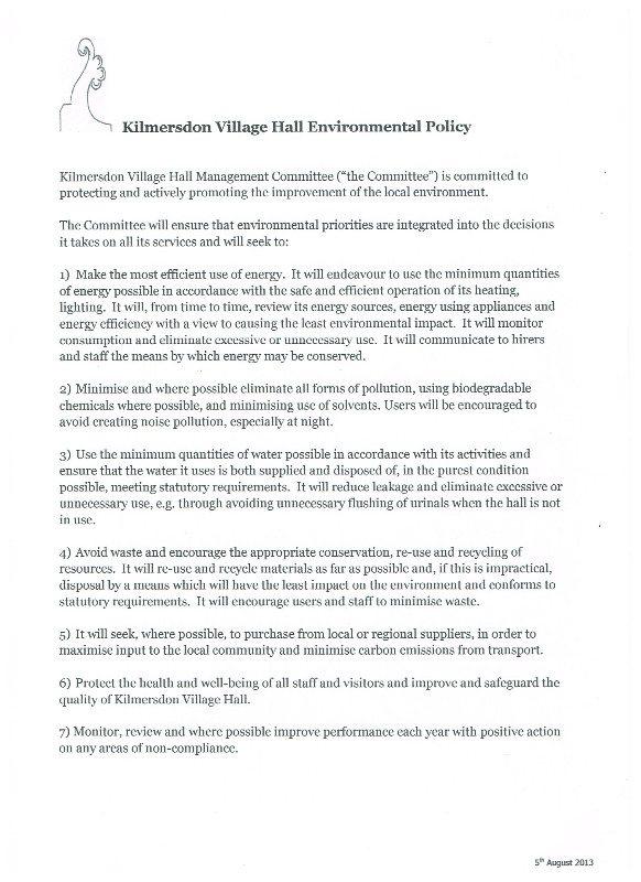 policy - environmental