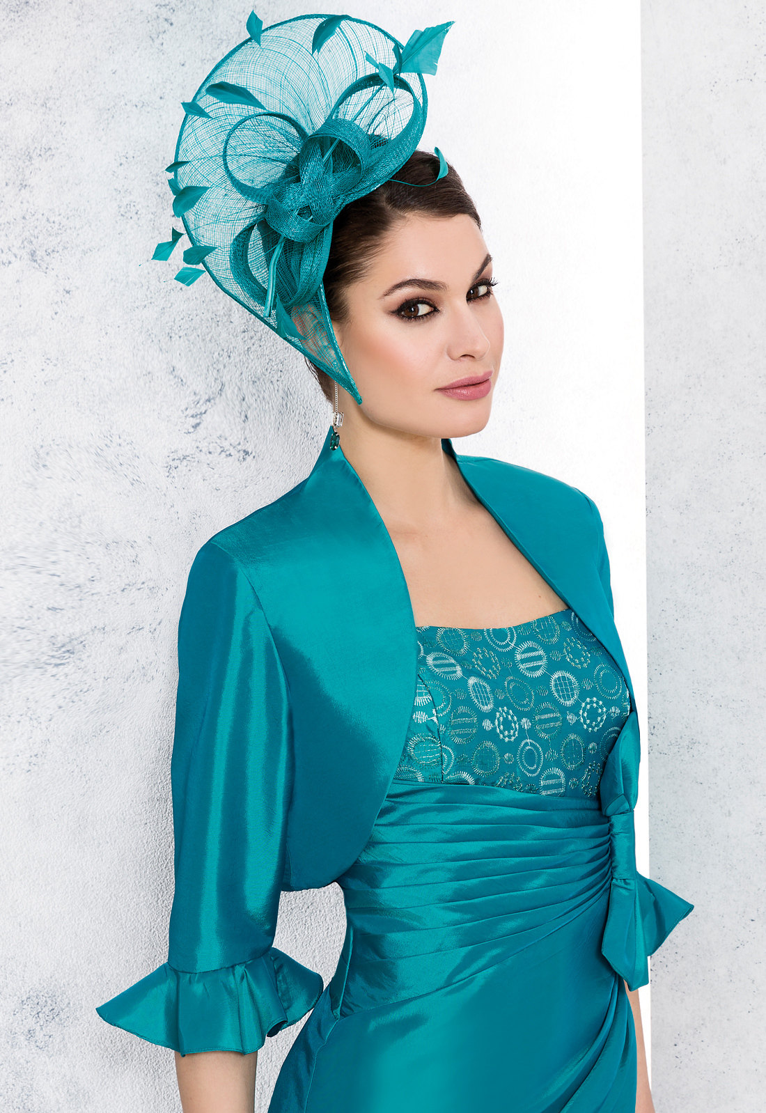 NEW Renata Teal Dress & Matching Jacket