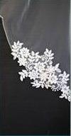Veil 185 - Sequin Lace Appliques 2 Tier