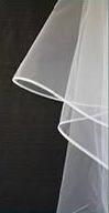 W22 - Crinoline Edge Extra Wide Veil 2 Tier