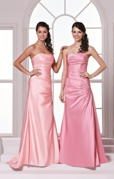 NEW D'Zage Rose Pink Taffetta Bridesmaid Dress - Size 8