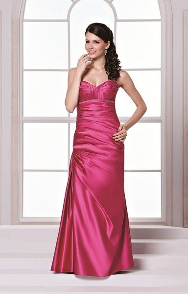 NEW D'Zage Fuchsia Satin Bridesmaid Dress - Size 16
