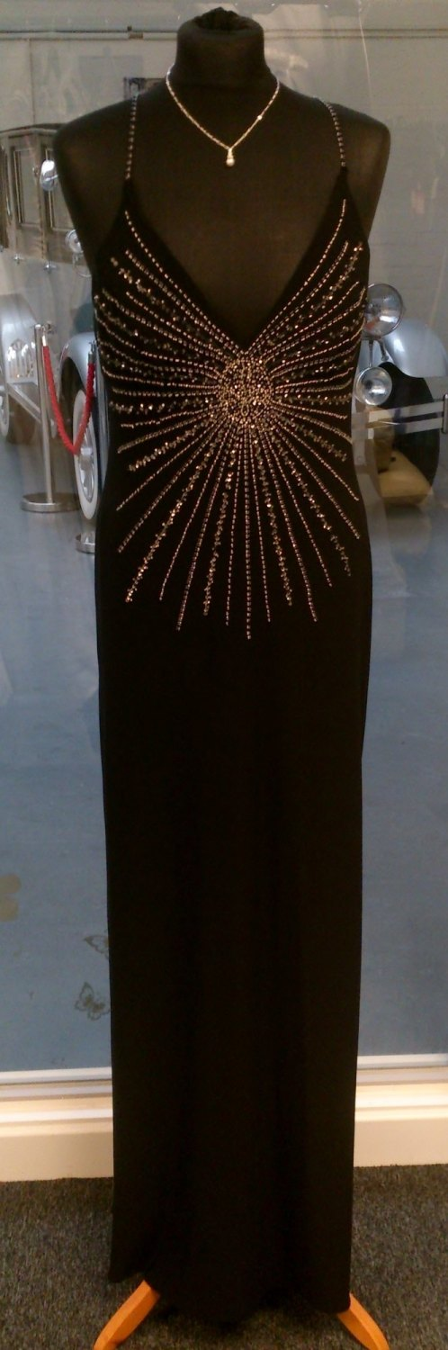 Stunning Black Evening Gown - Size 10/12