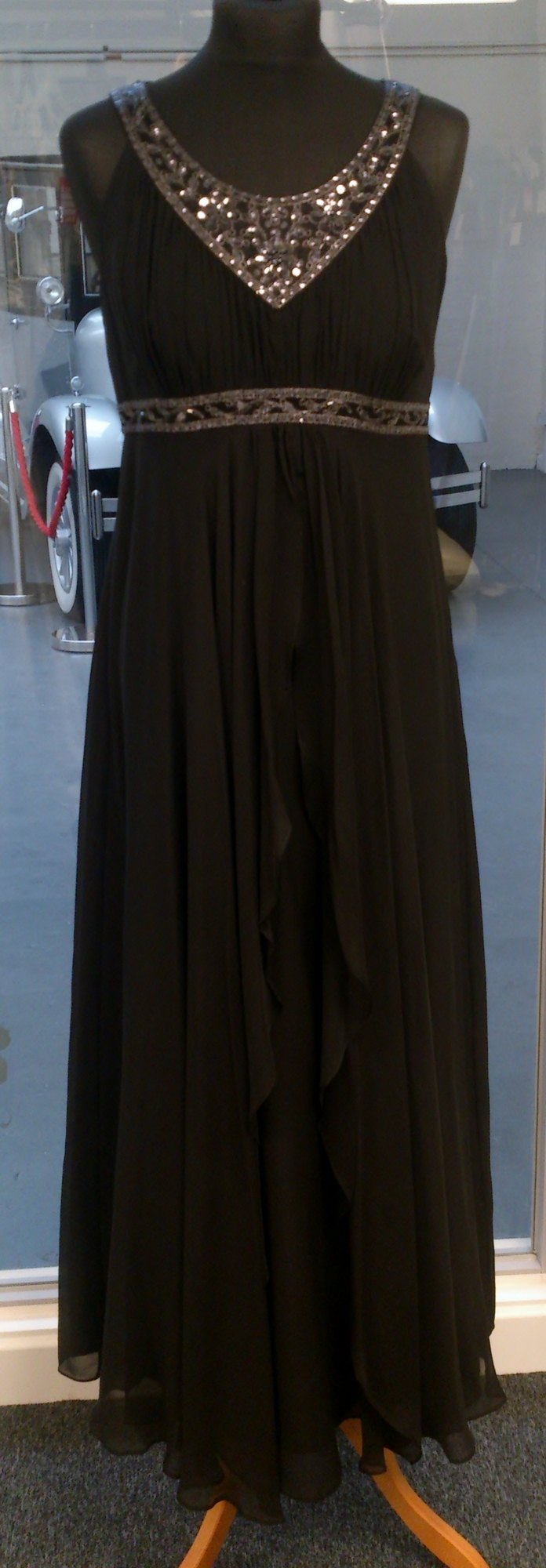 Monsoon Black Evening Maxi Dress - Size 12