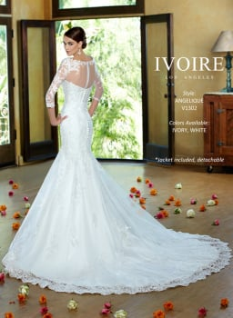 New Kitty Chen Ivoire LA Fit & Flare Lace Gown - Angelique - Size 14