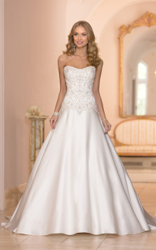 Stella York Satin & Beaded A-Line Gown - Style 5973 - Size 18 - Sample Sale Dress