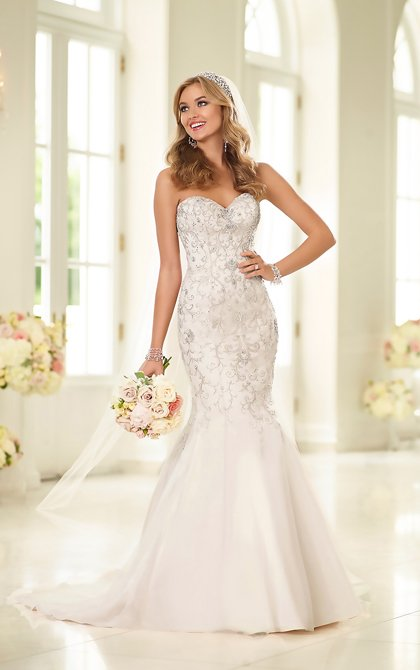 New Stella York Organza & Lace Fit & Flare Gown - Style 6021 - Size 12