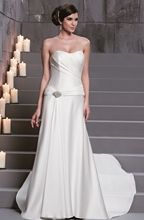 New D'Zage Ivory Satin A-Line Wedding Gown