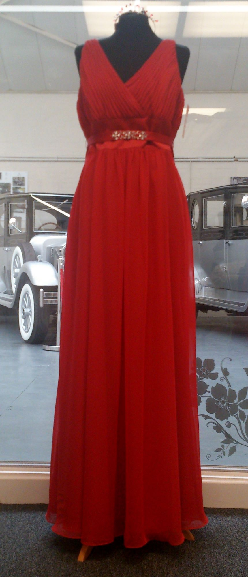 NEW Eden Red Chiffon & Satin Bridesmaid Dress - Size 14