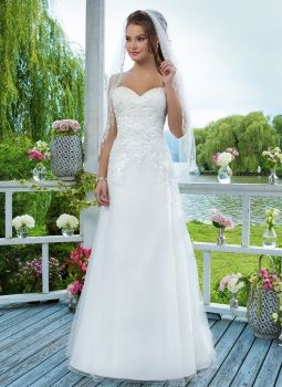 Sweetheart A-Line Ivory Gown - Style 6096 - Size 24 - Sample Sale Dress