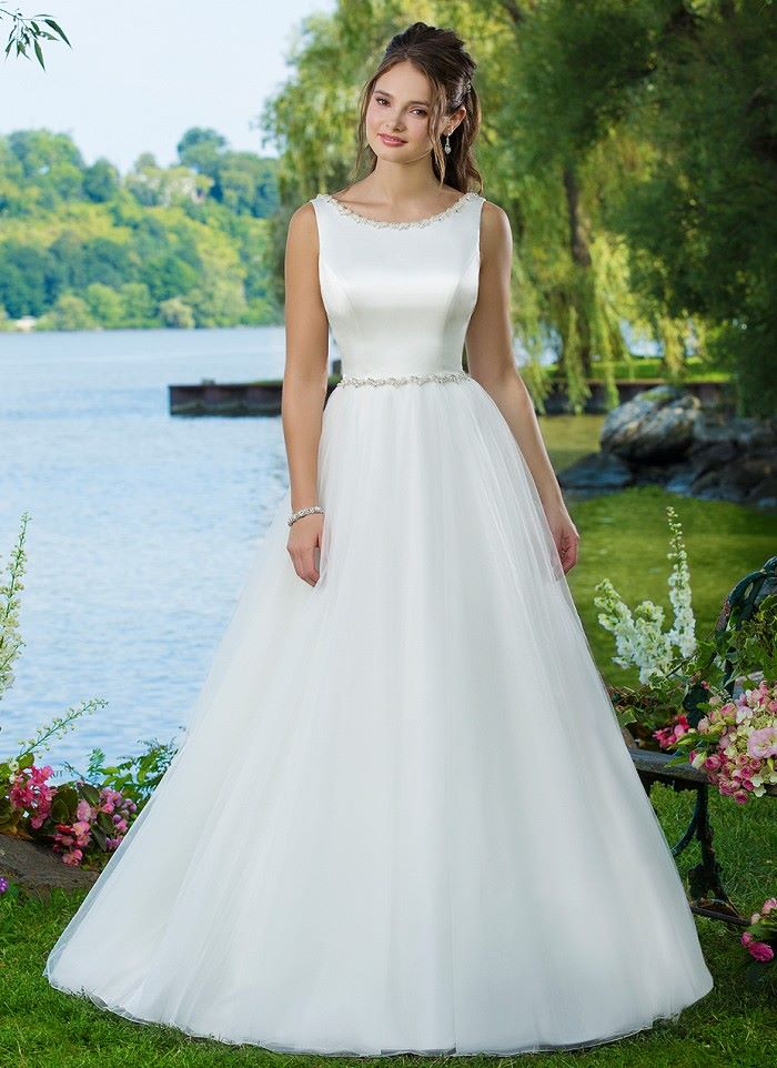 New Sweetheart A-Line Ivory Gown - Style 6096 - Size 24