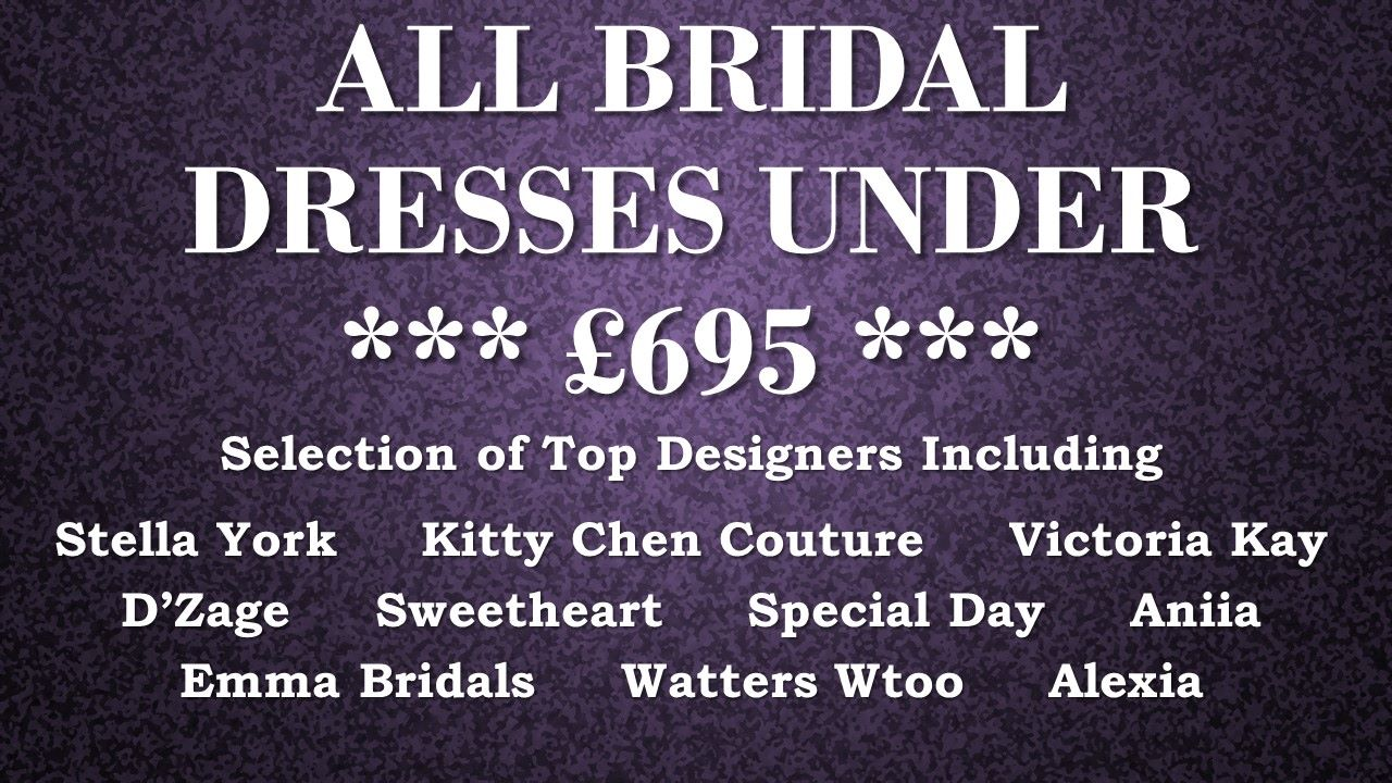 End of Season Sale - Bridal