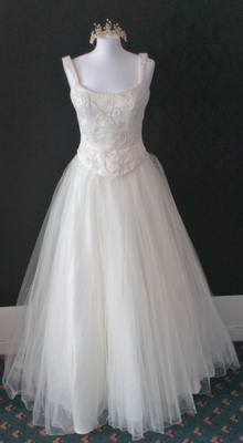 Berketex Beautiful Ivory 2 Piece Wedding Gown - Size 10/12