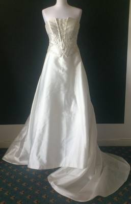 Diana Gray Beautiful Ivory Wedding Gown - Size 14