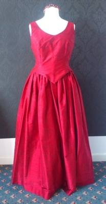 2 Piece Claret Top & Skirt Bridesmaid Dress - Size 8 & 12/14 Available
