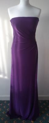 NEW Gorgeous Strapless Purple Bridesmaid Dress with Diamonte Detail - Size