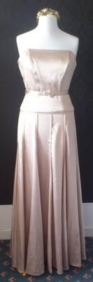 NEW Elegant Dessy Champagne Colour Dress - Size 12