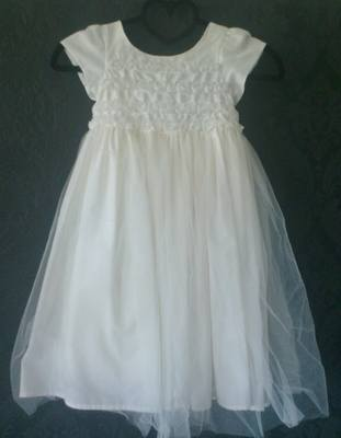 Next Gorgeous Cream Flowergirl Dress - Age 3-4yrs