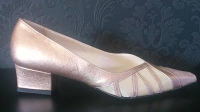 Catherines of Partick Bronze Low Heel Shoe - Size 5