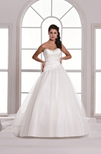 D'Zage Stunning White Princess Style Wedding Gown - Size 10