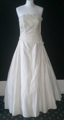 Beautiful Forever Yours Ivory Strapless Wedding Gown - Size 12