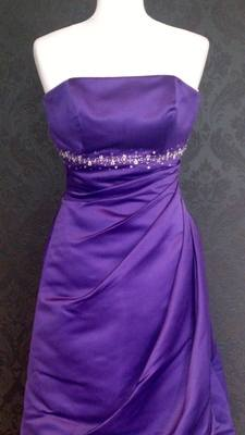 Crystal Collection Stunning Purple Bridesmaid Dress - Size 8