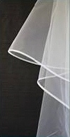 Style W22 - Crinolin Edge Wide 2 Tier Veil