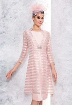 NEW Renata Pink Dress & Matching Sheer Coat