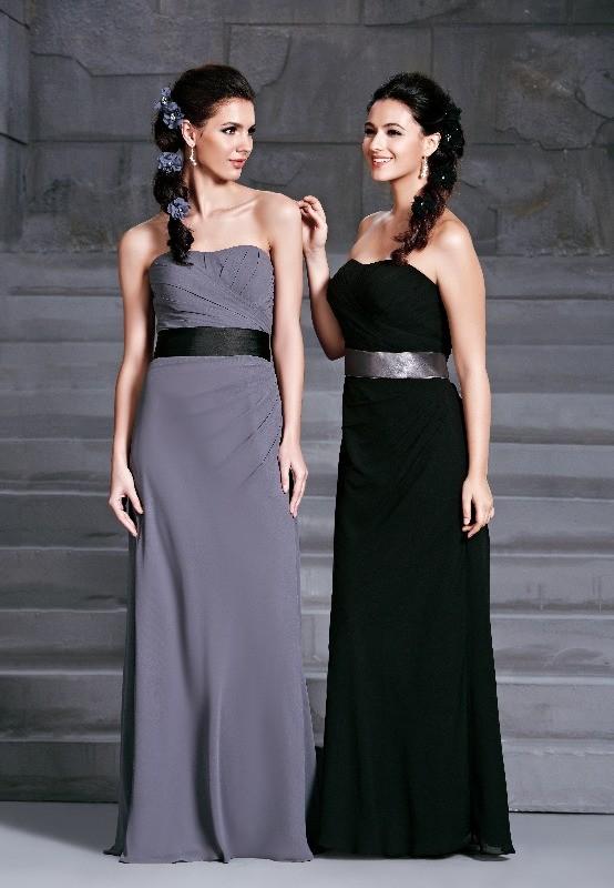 BM Sale Dress - D'Zage - dab11405-pewter-black & black-pewter-6