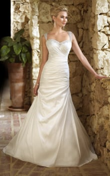New Stella York Ivory A-Line Gown Style 5695 - Size 12