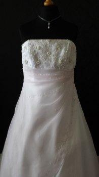 Rosetta Nicolini White & Pink Wedding Gown - Size 20