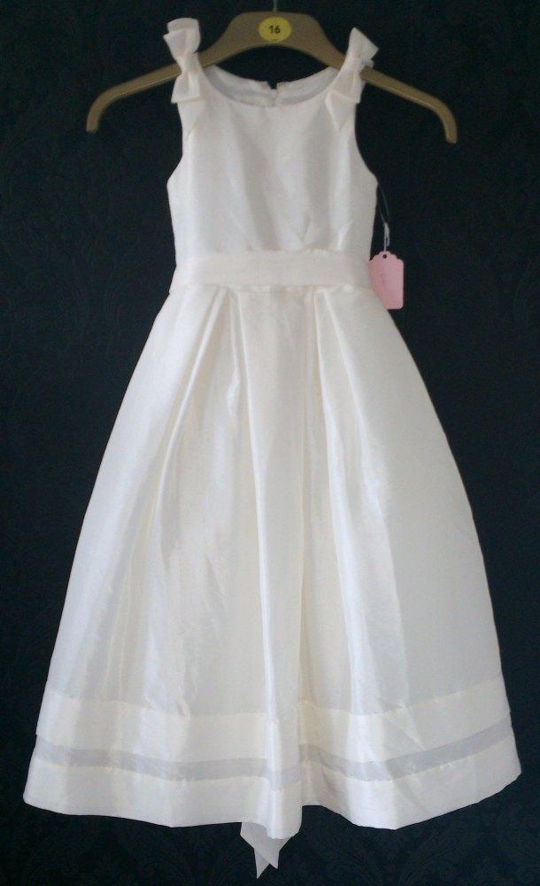 Lovely Linzi Jay Ivory Tuile Flower Girl Dress - Age 4-5yrs - Ex-Sample