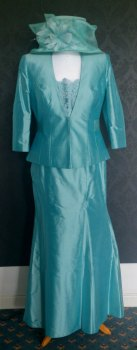 NEW John Charles Aqua 3 Piece Mother of the Bride/Groom Suit - Size 16