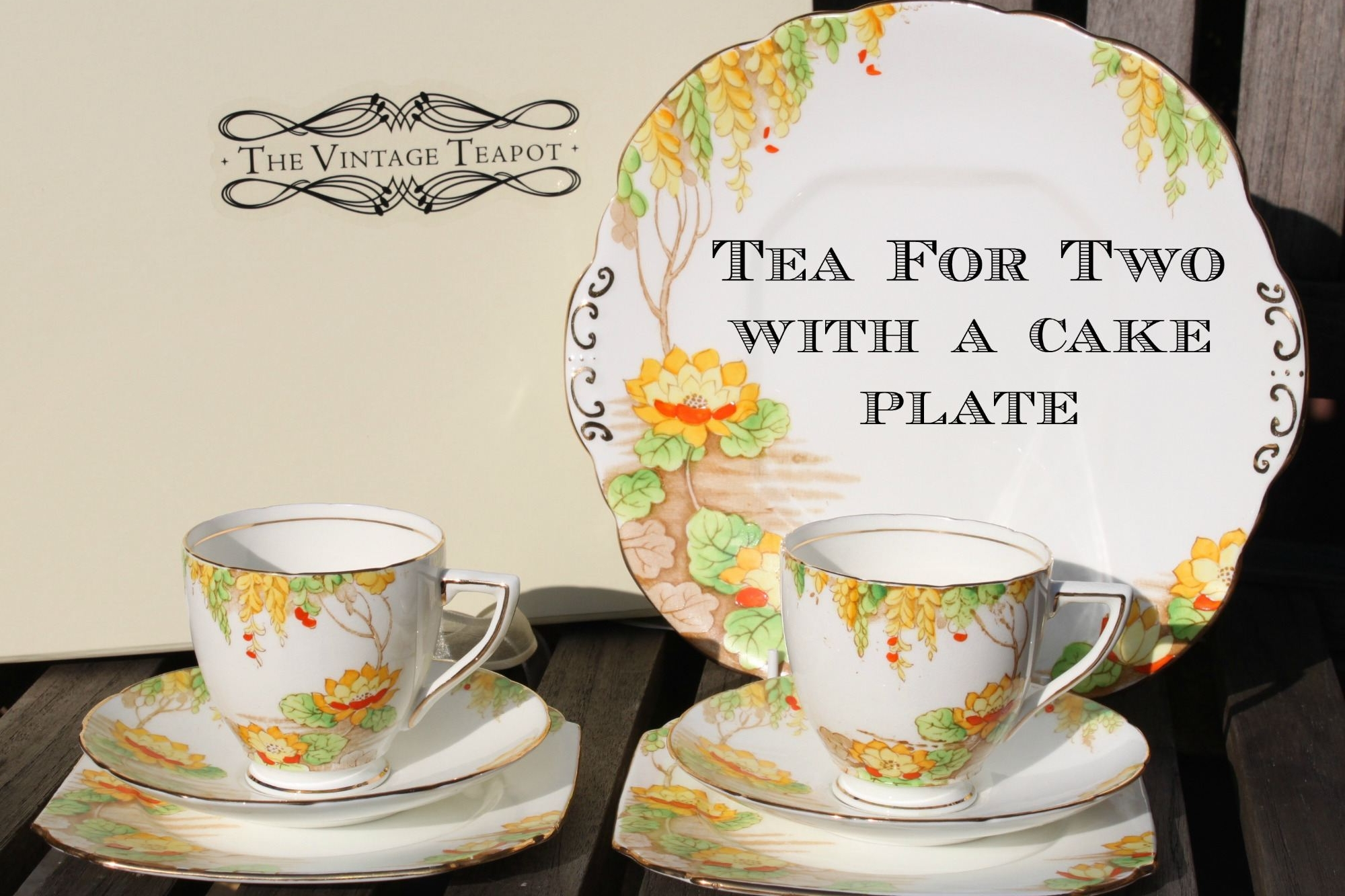 Tea for Two with a cake plate