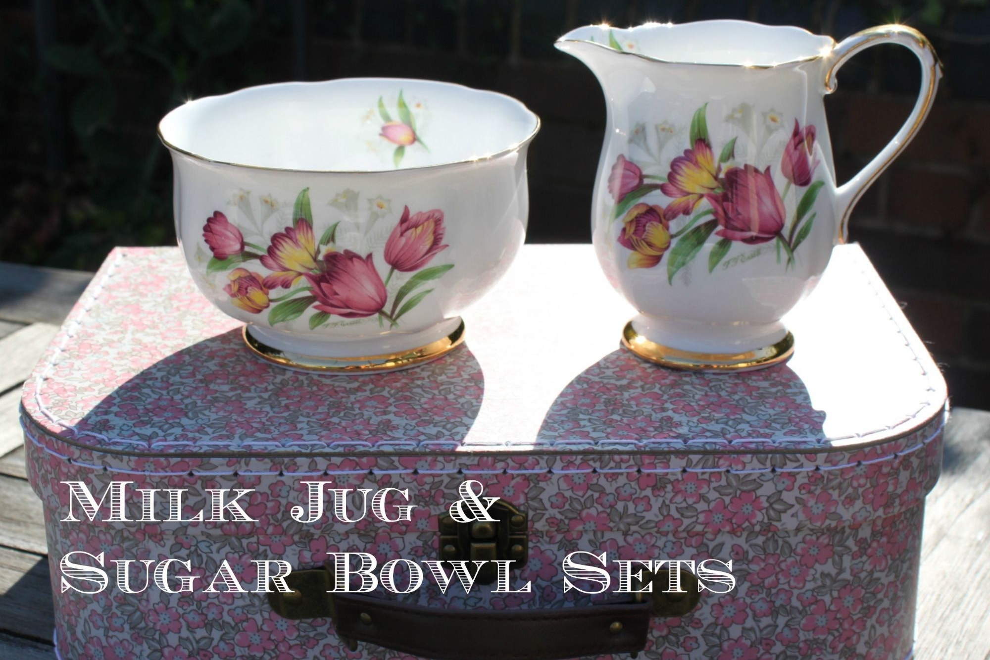 vintage milk jug and sugar bowl sets