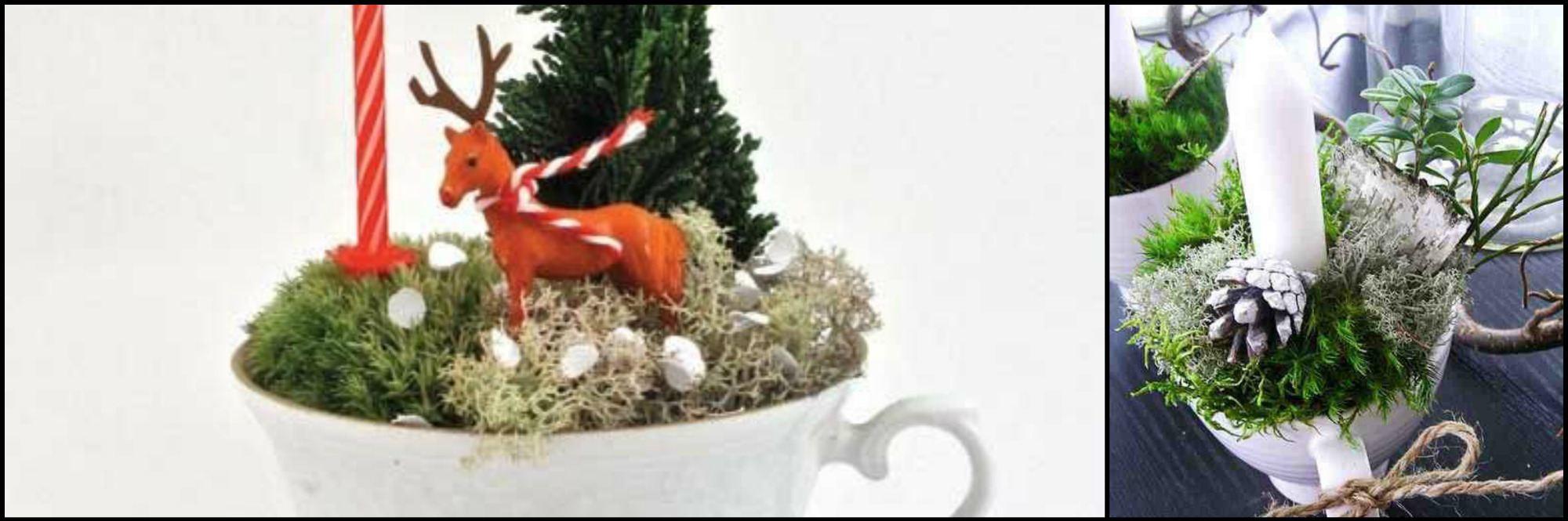 christmas decorations teacup