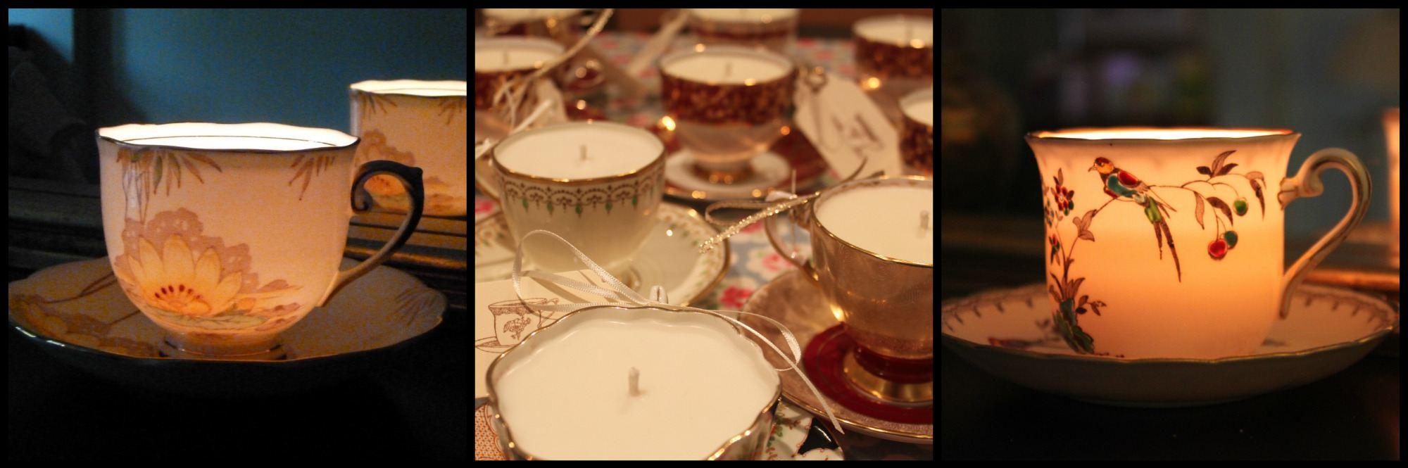 teacup candles christmas