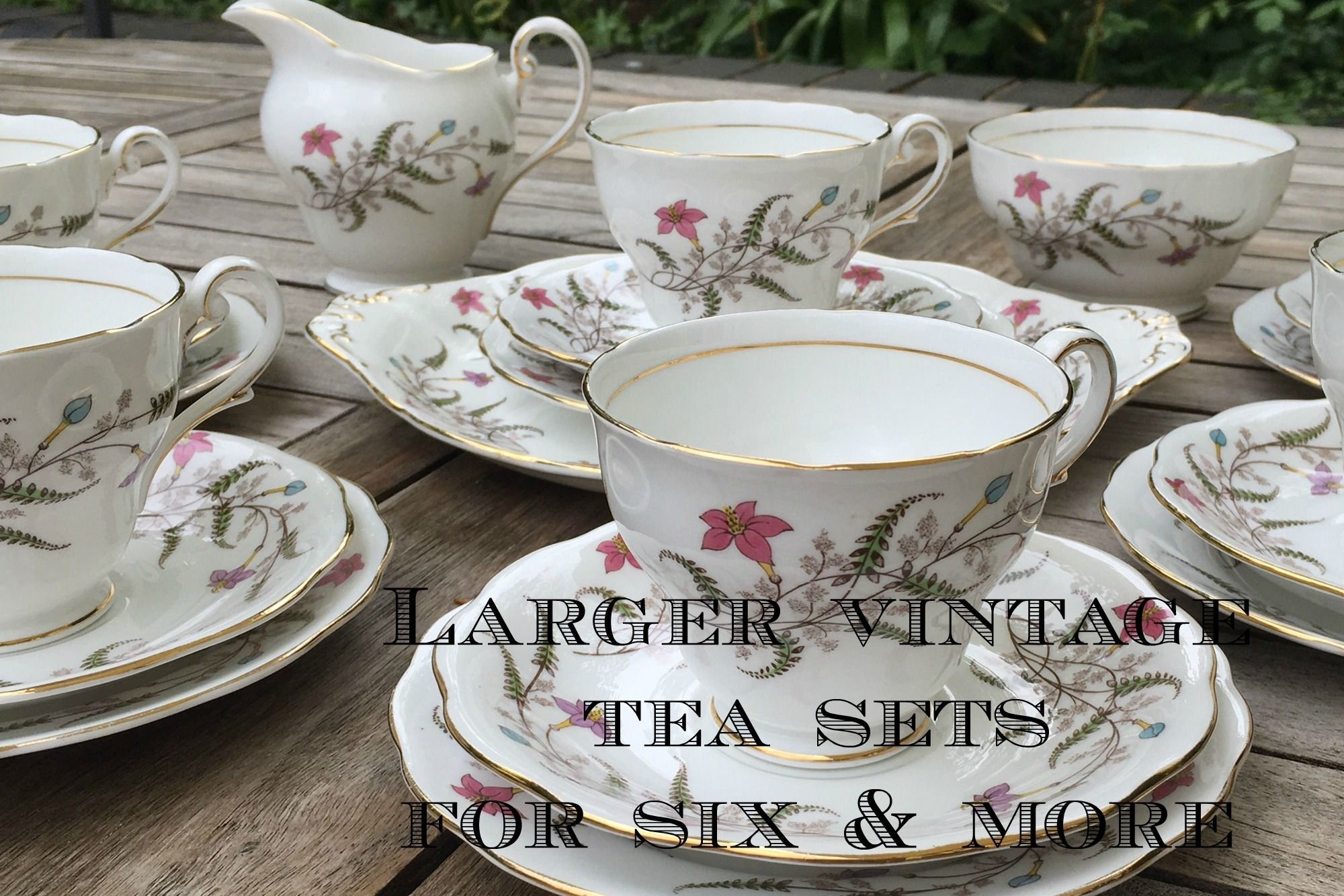 Vintage tea sets for six