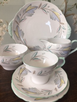 Shelley, English bone china, Complete tea set for six