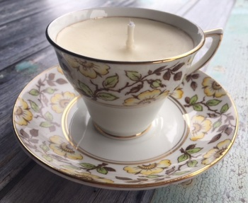 Rosina English China, Lime Basil & Mandarin Teacup Candle