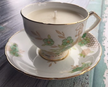 Wellington bone china, Lime Basil & Mandarin Teacup Candle
