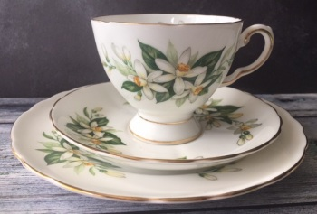 "Plant Tuscan ""Bridal Flower"" Tea for One Set"