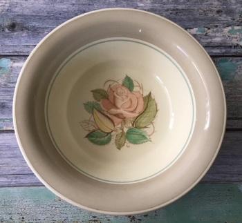 """Susie Cooper """"Patricia Rose"""" Fruit Bowl, Taupe"""
